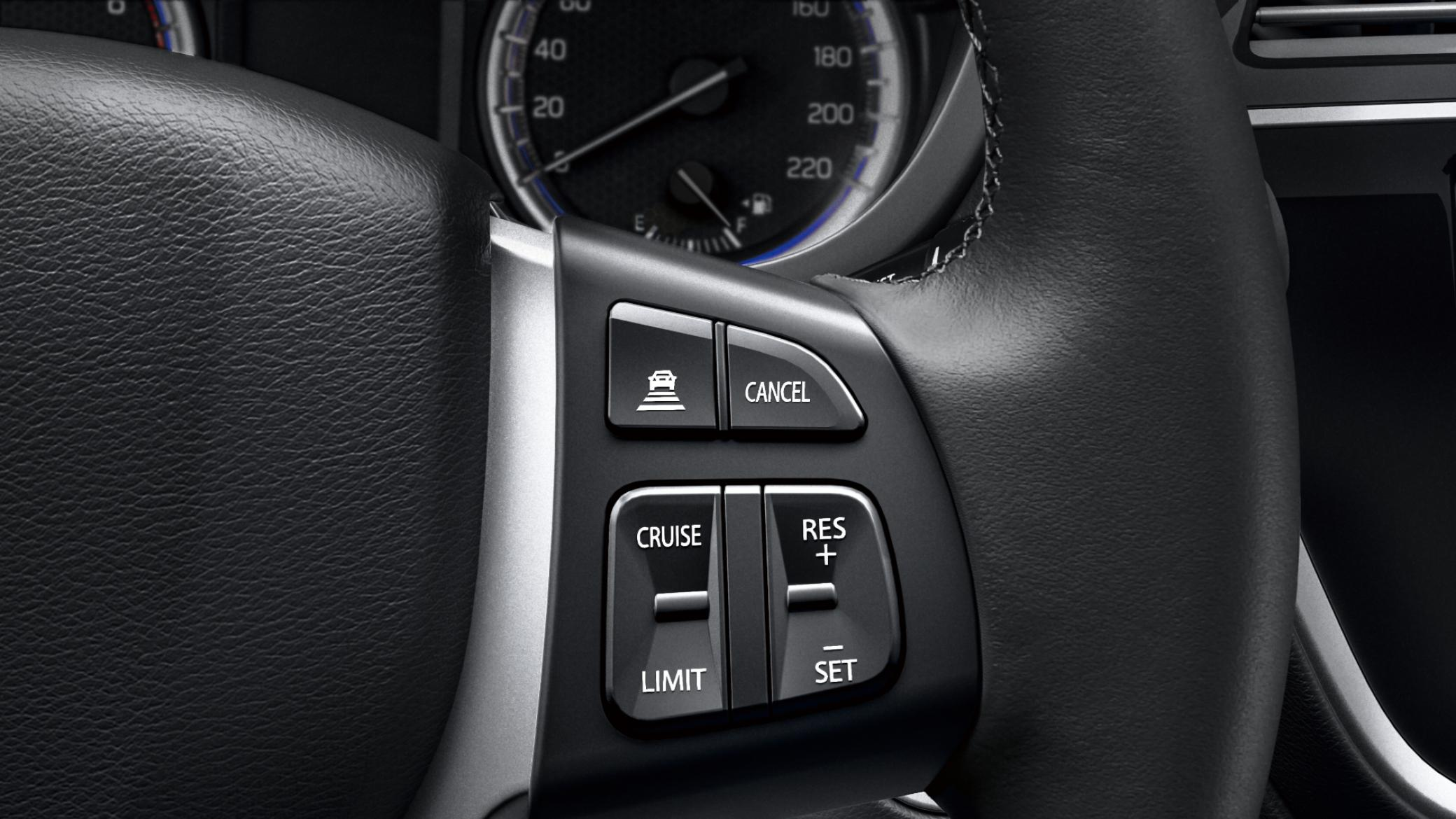 Adaptieve cruise control met speed limiter
